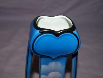 Blue Art Nouveau Handled Vase. (6)