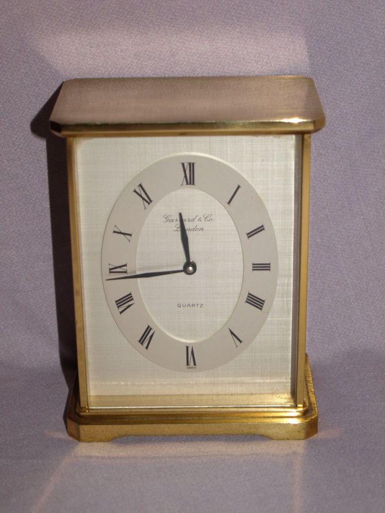 Garrard & Co Carriage Mantle Clock.