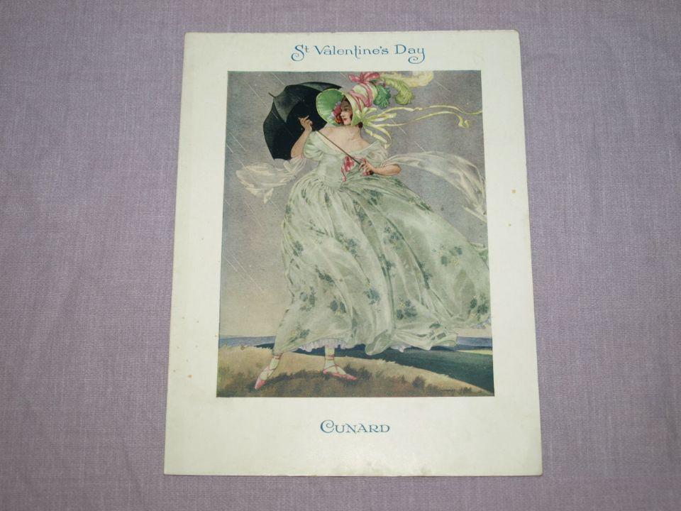 Cunard Line Laconia Dinner Menu St Valentine's Day 14th February 1933.