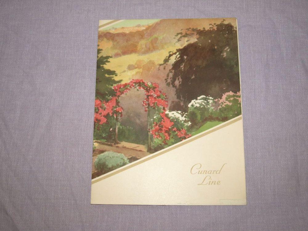 Cunard Line Laconia Lunch Menu Shrove Tuesday 28th February 1933.