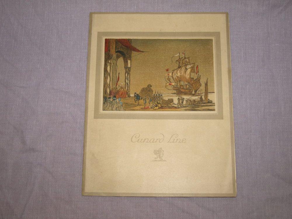 Cunard Line Laconia Dinner Menu 3rd February 1933.