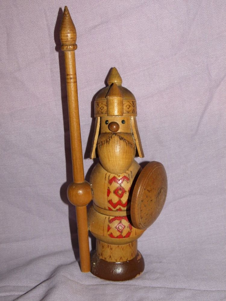 Vintage Russian Made Viking Figure.