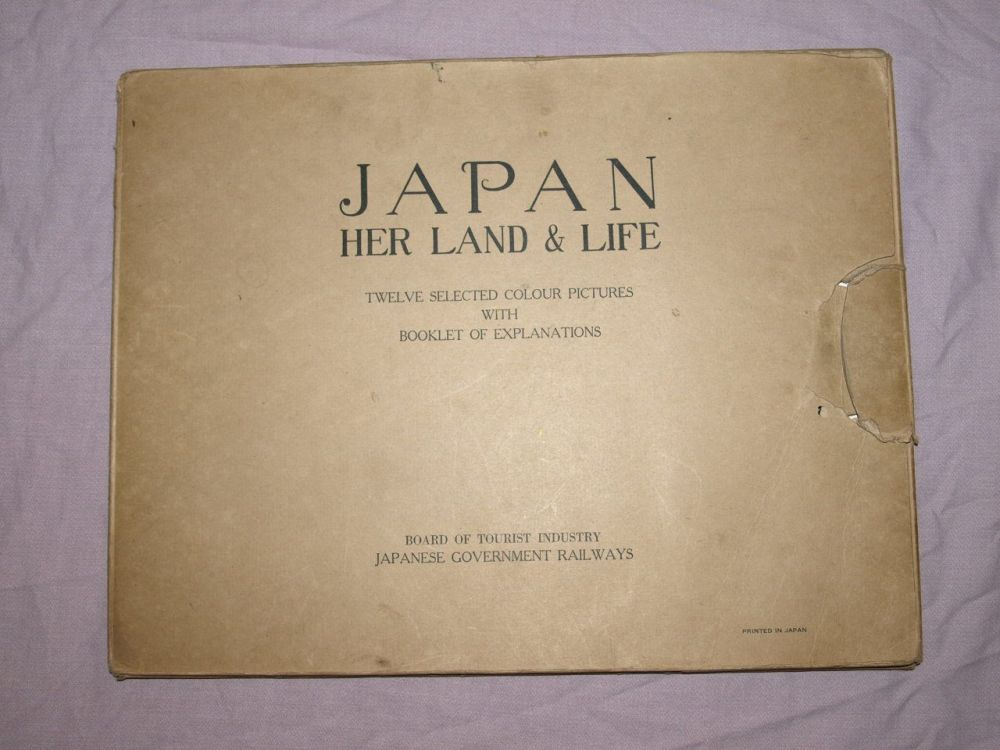 Japan, Her Land & Life, Twelve Selected Colour Pictures, with Explanation Booklet, 1930s.