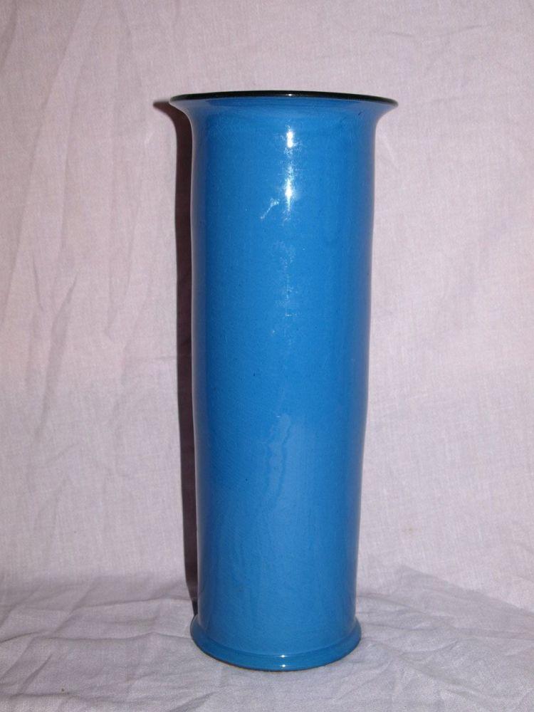 Barton Pottery Tall Blue Vase, 1930s.