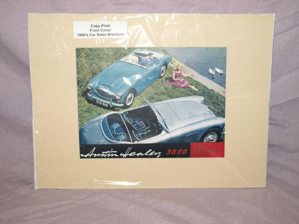 Austin Healey 3000 Car Sales Brochure Front Cover Copy Print.