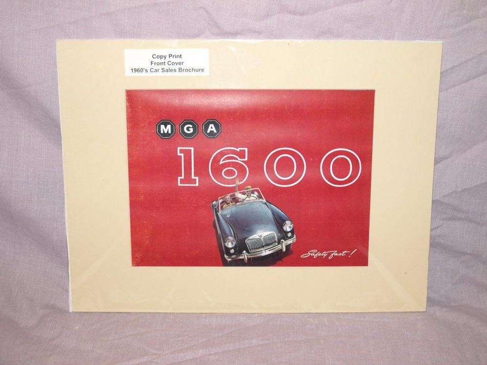 MGA 1600 Car Sales Brochure Front Cover Copy Print.