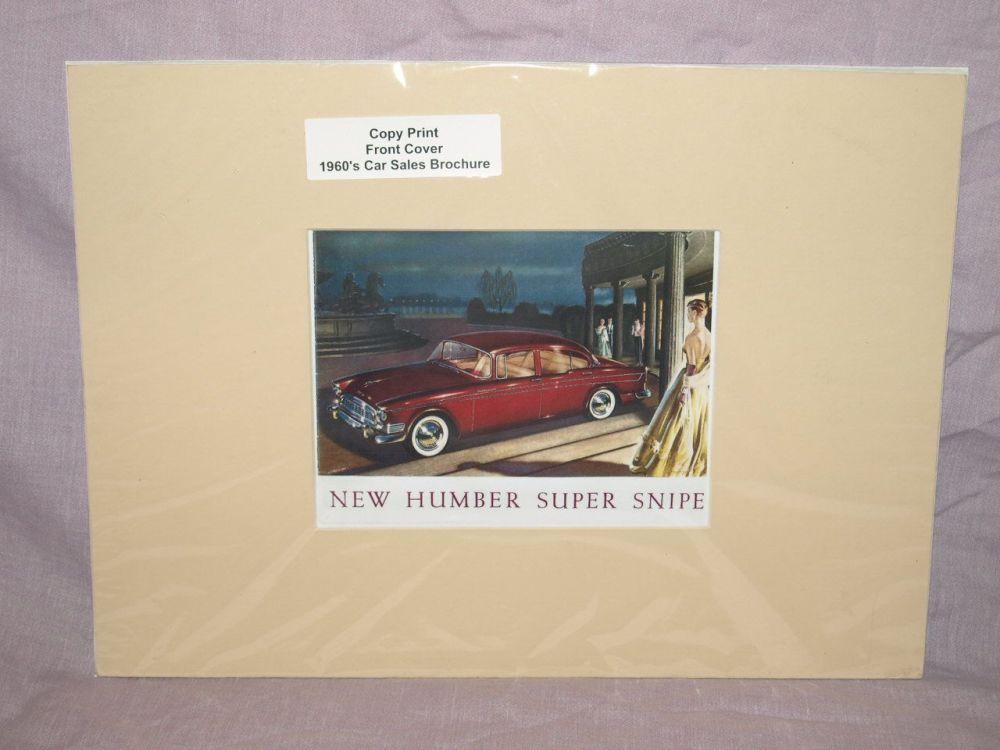 Humber Super Snipe Car Sales Brochure Front Cover Copy Print.