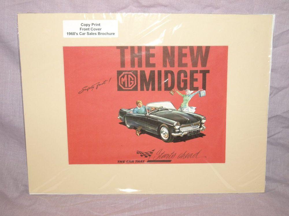 MG Midget Car Sales Brochure Front Cover Copy Print.