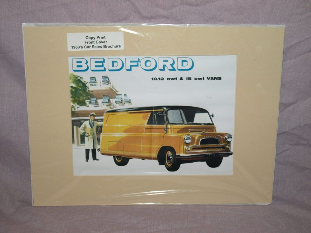 Bedford 10 12 and 15 CWT Vans Sales Brochure Front Cover Copy Print.