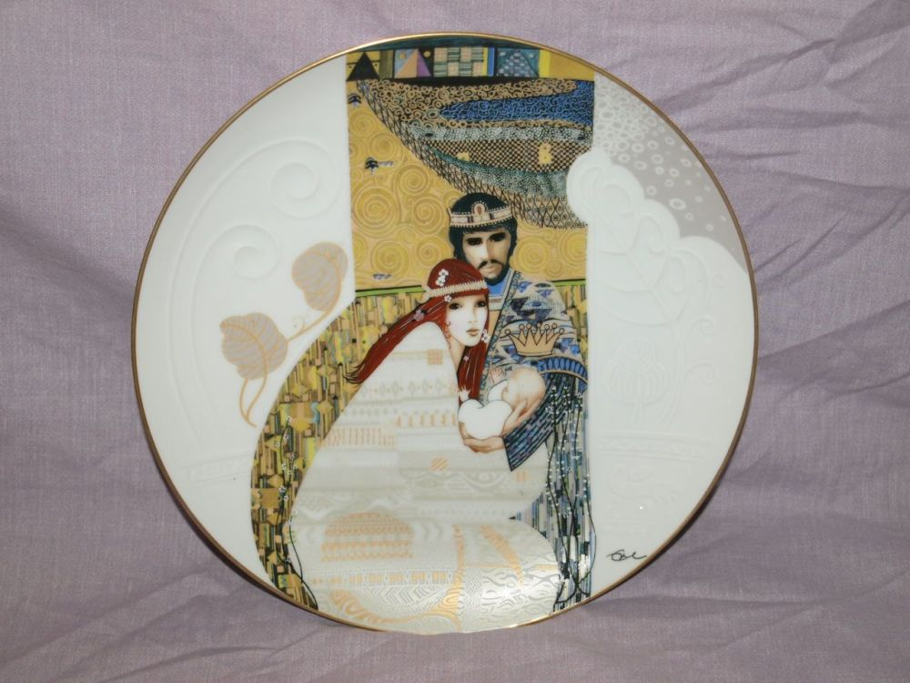 Eve Licea Limited Edition Biblical Mothers Plate by Knowles, Bathsheba and Solomon.