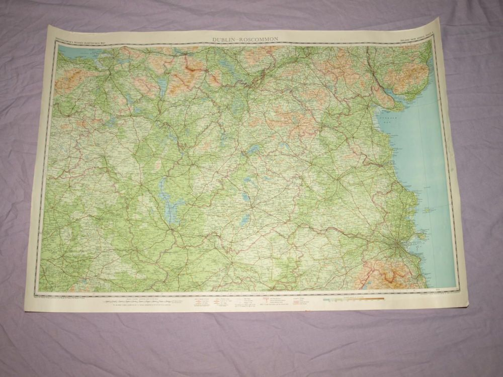 Bartholomew's ¼ Inch Map Of Ireland, Dublin-Roscommon.