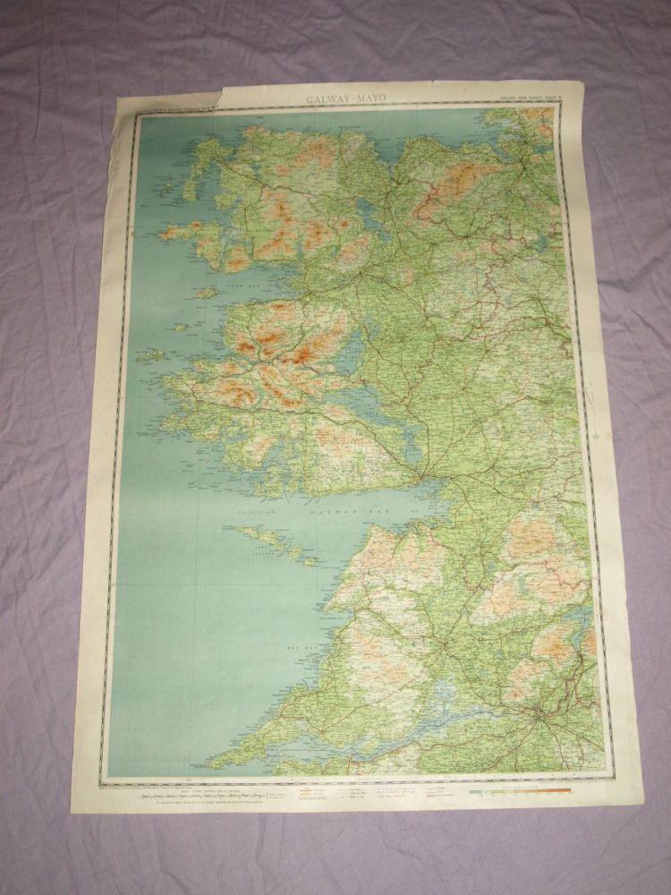 Bartholomew's ¼ Inch Map Of Ireland, Galway-Mayo.