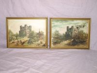 Rochester Castle, Pair of Oil on Panel Paintings.