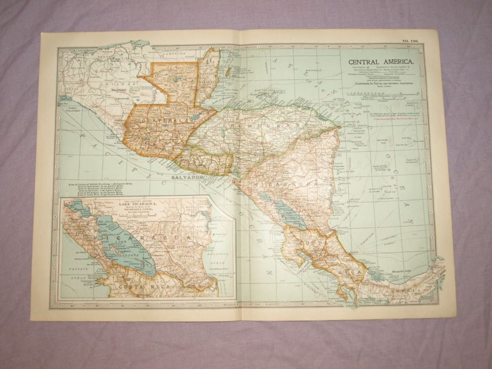 Map of Central America, 1903.