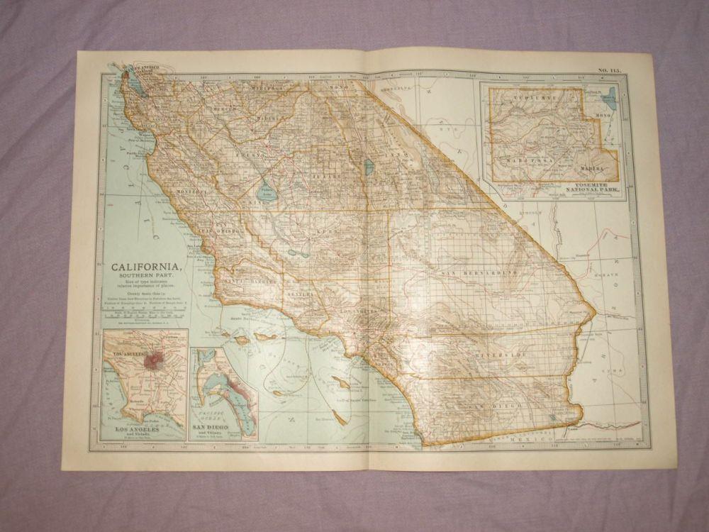 Map of California, 1903.