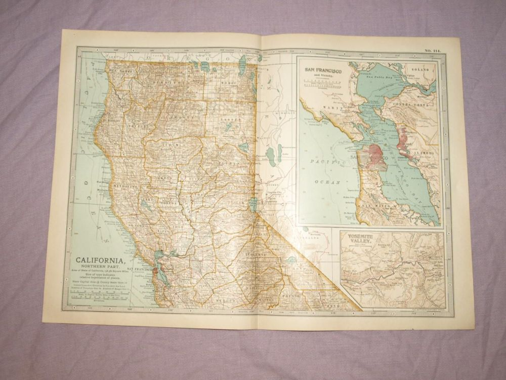Map of California, Northern Part, 1903.