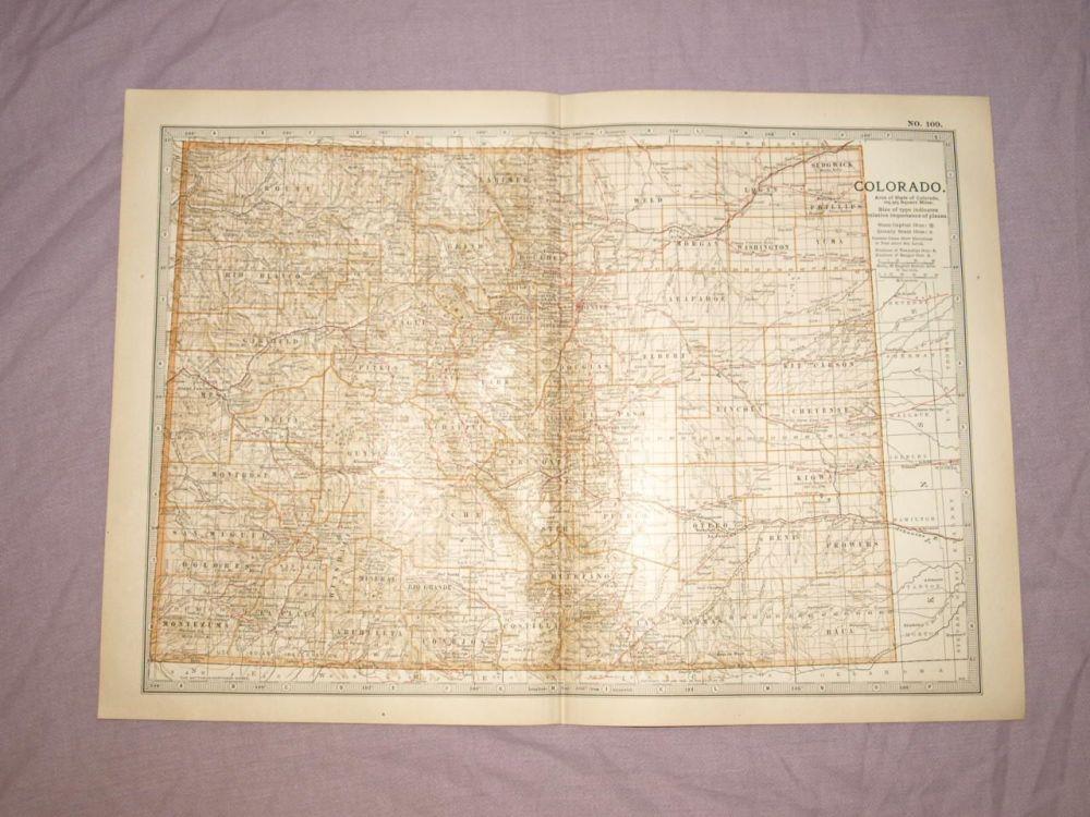 Map of Colorado, 1903.