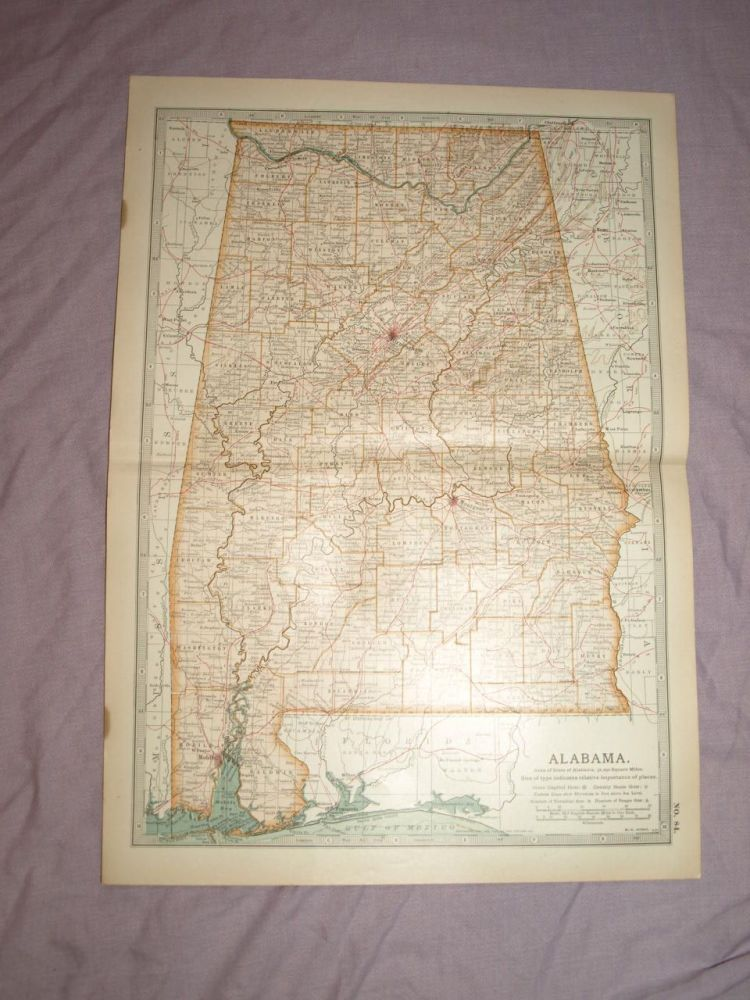 Map of Alabama, 1903.