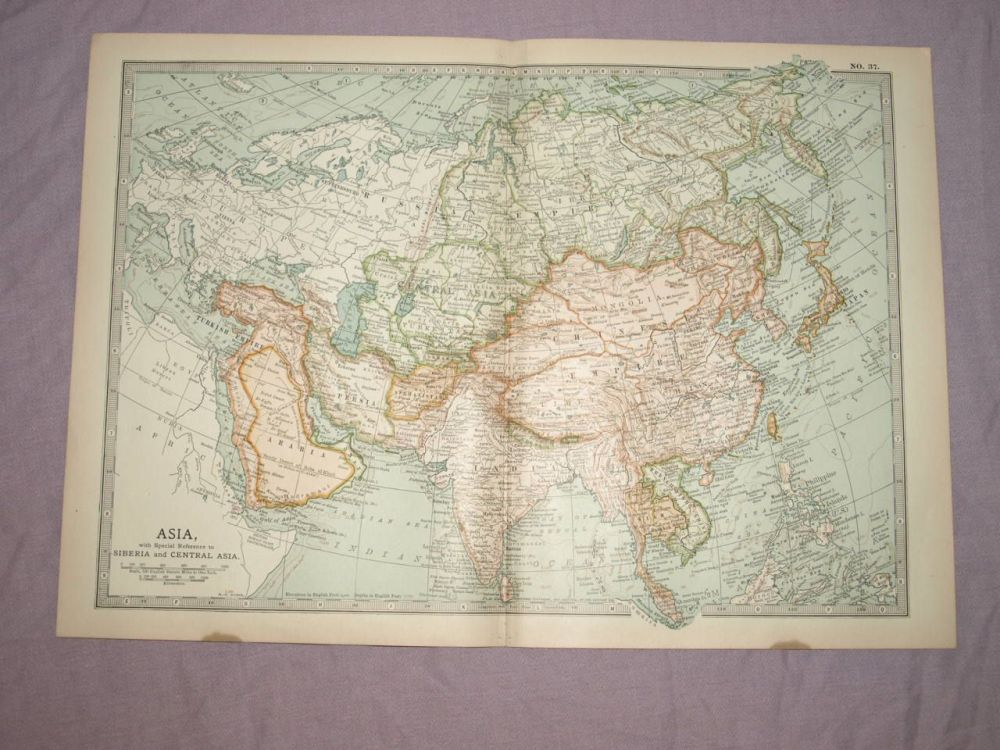 Map of Asia, 1903.