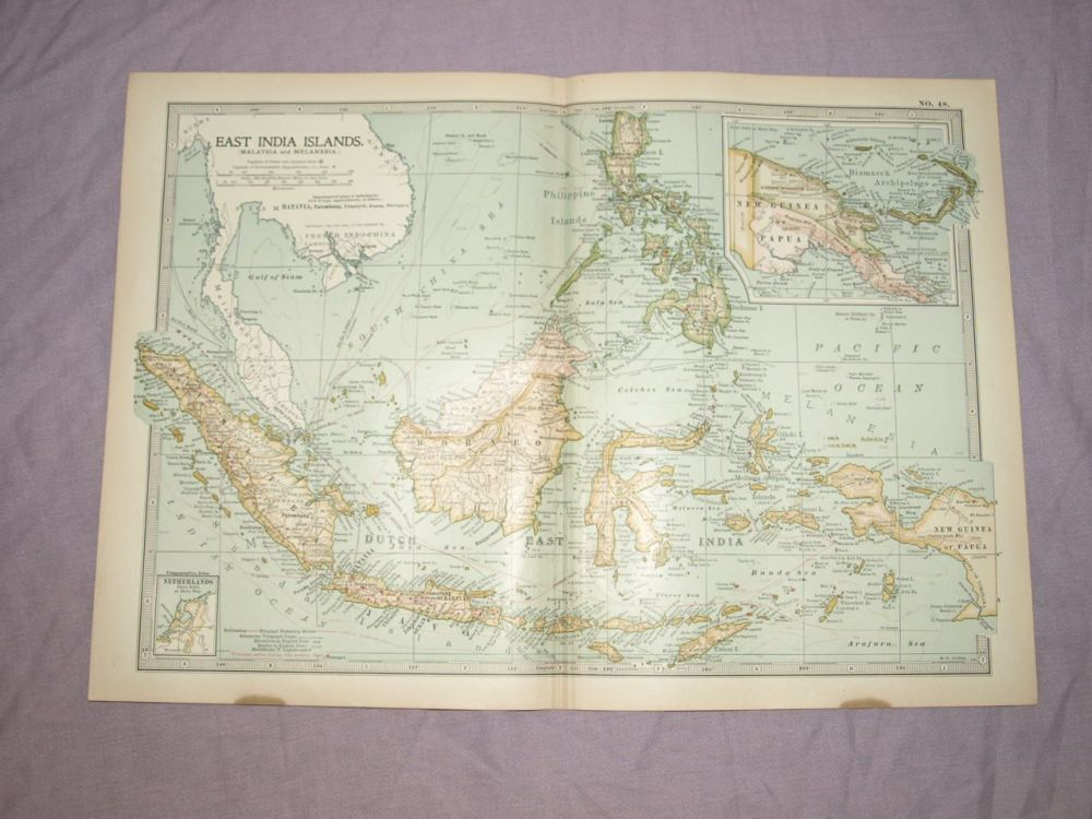 Map of East India Islands, 1903.