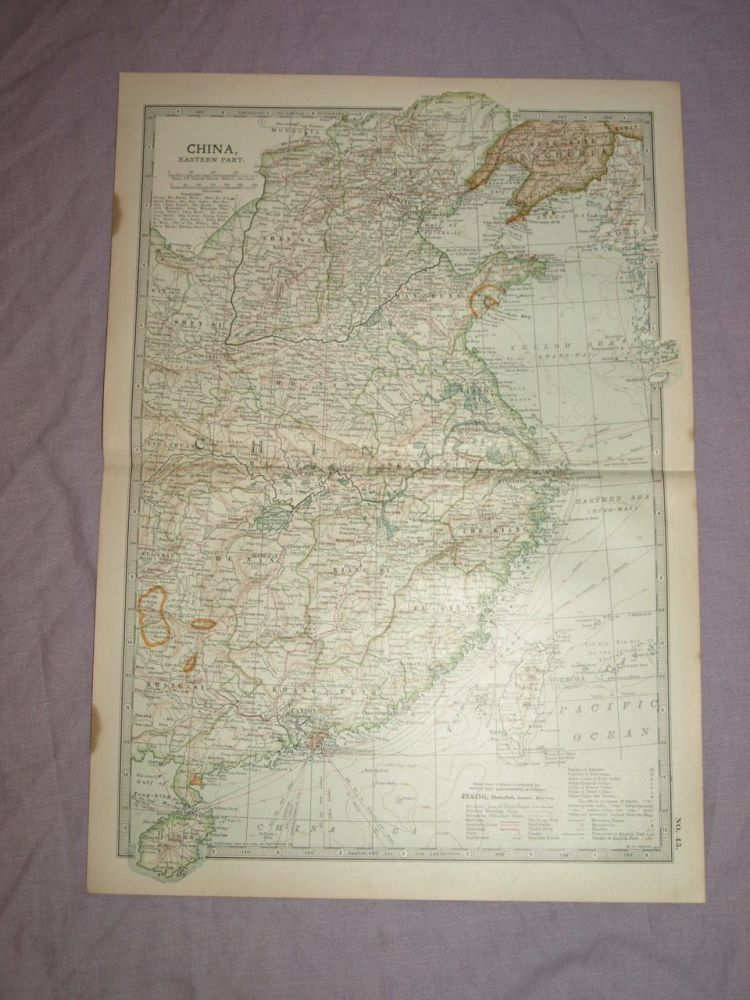 Map of China, Eastern Part, 1903.
