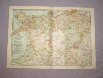 Map of North Wales and the West of England, 1903.