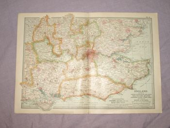 Map of South East England, 1903.
