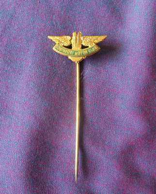 Southport Motor Club and British Beach Racing Club 9ct Gold Tie Pin. 1930's