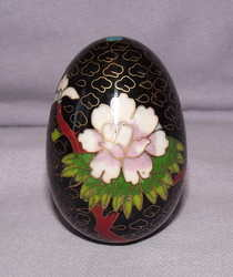 Cloisonne Black Egg.