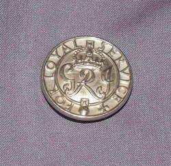 WW2 Kings Crown For Loyal Service Lapel Badge