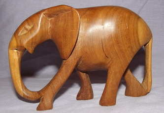 Carved Wooden Elephant.