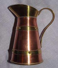 Brass Art Deco Jug (2)