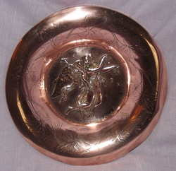 Copper Wall Plate Signed Drewsen