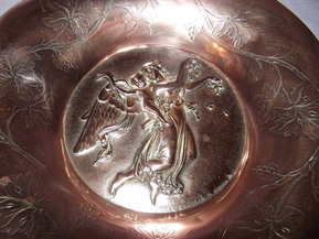 Copper Wall Plate Signed Drewsen (4)