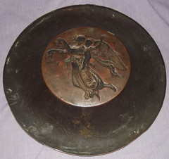 Copper Wall Plate Signed Drewsen (6)
