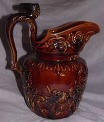 Treacle Glazed Jug Wood Ware (2)