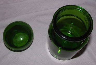Green Glass Storage Chemist Jar