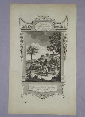 Antique Engraving, Methods of Travelling in Congo, 1777.