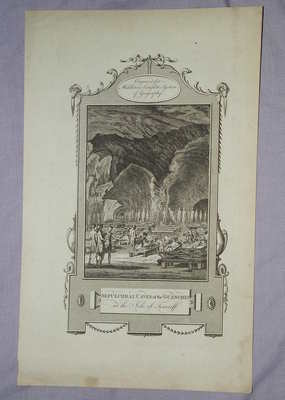 Antique Engraving, Sepulchral Caves of the Guanches, 1777.
