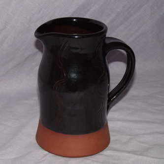 Studio Pottery Jug, Brown Glaze.