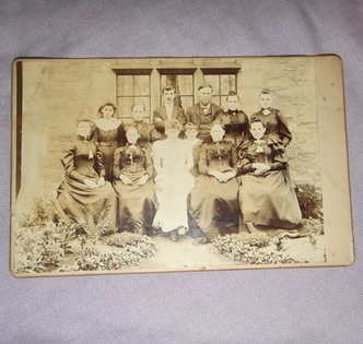Victorian Cabinet Photograph Family Group.