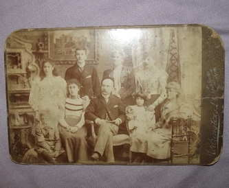 Victorian Cabinet Photograph Family Portrait.