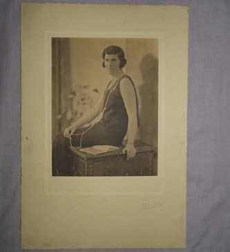 Large Photograph 1920's Lady Seated.