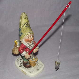 Goebel CO-BOY Figurine Petri the Fisherman Gnome.