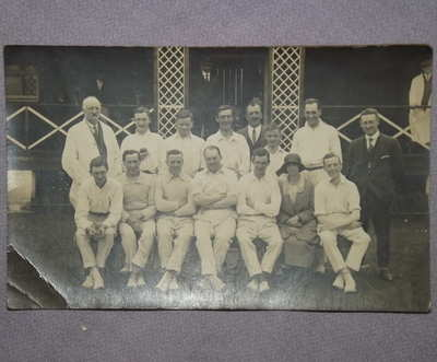 Postcard Photograph of Cricket Team 1920's.