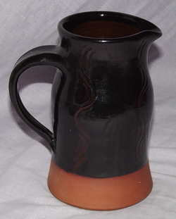 Studio Pottery Jug, Brown Glaze