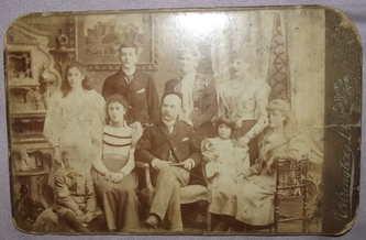 Victorian Cabinet Photograph Family Portrait