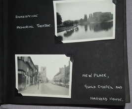 Photograph and Postcard Album 1950's Stratford on Avon, Leamington Spa