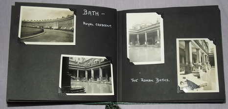Photograph and Postcard Album 1950's Clevedon Somerset, Bath and Cheddar