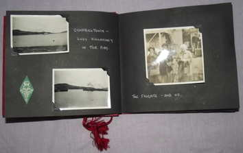Photograph and Postcard Album 1950's Scottish Cruise